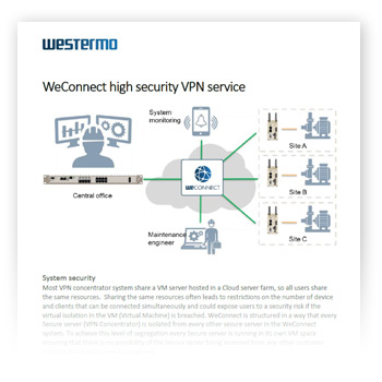 WeConnect brochure cover.