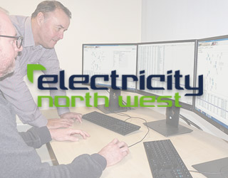 Electricity North West employees working with WeConfig.